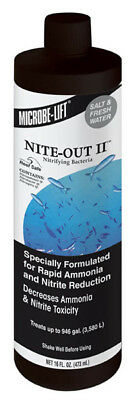 Ecological Labs Microbe Lift Nite-Out Ii Nitrifying Bacteria - 16 Fl. Oz./473 ml