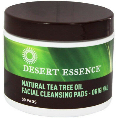 Desert Essence Natural Facial Cleansing Pads With Tea Tree Oil Original 50 Pads