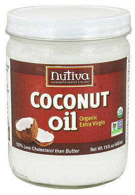 NUTIVA - Organic Extra-Virgin Coconut Oil (Glass Jar) - 15 fl. oz. (445 ml)