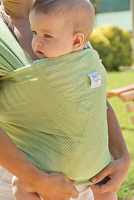 Baby infant Front sling carrier wrap BabyAguaBag for beach pool Made in Spain