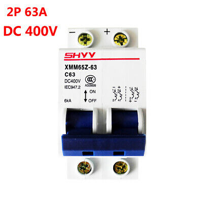 2P 250V DC 63A C65H-DC Circuit Breaker MCB PV Solar Energy Air Switch