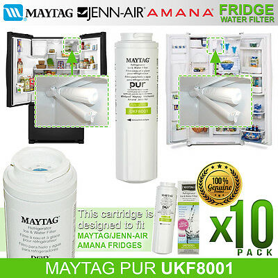10 Pack Genuine UKF8001AXX Amana, Maytag, Kenmore,Jenn-Air Water Filter UKF8001