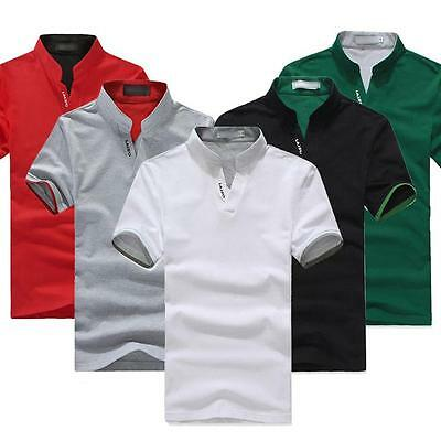 Fashion Summer Men's T-shirt Short sleeve Solid color Work clothes POLO Shirt