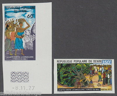 BENIN - 1977 Fight against Witchcraft (2v) Imperf UM / MNH
