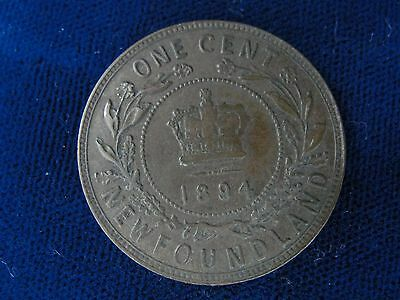 1894 Newfoundland Large Cent * Victoria Low Mintage High Grade Canada  Penny