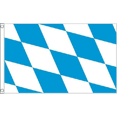 Bavaria No Crest Flag 5Ft X 3Ft German Germany Oktoberfest Beer Banner New