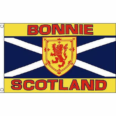 Bonnie Scotland Flag 5Ft X 3Ft Scottish Scots Celtic Banner With 2 Eyelets New