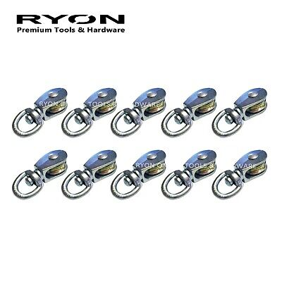"6PCS 3/4""  19mm SINGLE Wheel Pulley Block Swivel Snatch Rope Hanging Wire HD"