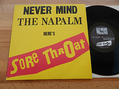 SORE THROAT - Never Mind The Napalm Here's Sore Throat RAR Vinyl NAPALM DEATH