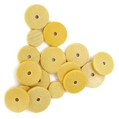 New 16pcs Music Flute Close Pads Replacement Repair Yellow Instrument Accessory