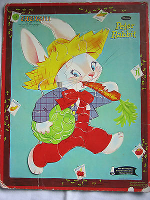 FRAME-TRAY INLAY PETER RABBIT PICTURE PUZZLE NO 4421 FOR DEVELOPING COORDINATION