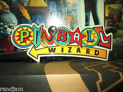 PINBALL WIZARD METAL SIGN VINTAGE LOOK VIDEO AWESOME COIN AMUSEMENT BALLY