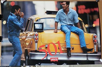 LEVI'S 501 ADVERTISING POSTER 1980s