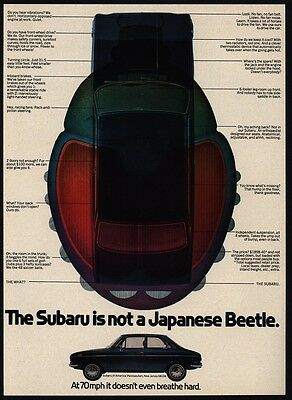 1971 SUBARU Car - Not a Japanese Beetle VINTAGE ADVERTISEMENT
