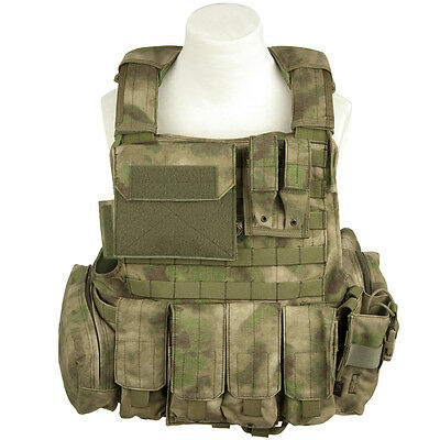 Flyye Force Recon Combat Weste Ver. Land + Beutel Armee Molle A-Tacs Fg Tarn