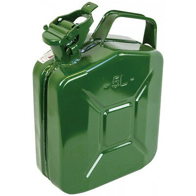 Highlander Water Diesel Fuel Petrol Carrier Steel Jerry Can Camping 5L Green OD