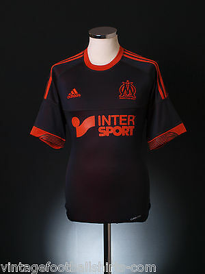 2012-13 Olympique Marseille Adidas Reversible Third Football Shirt *BNIB*