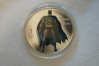 Batman - Superhero - 1 oz. Silver Plated Coin in Case.