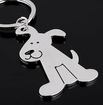 FD1161 Cute Smooth Dog Puppy Metal Keychain Keyring Keyfob Key Ring Car Keyring