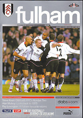 2004/05 FULHAM V WATFORD 19-01-2005 FA Cup 3rd Round Replay (Very Good)