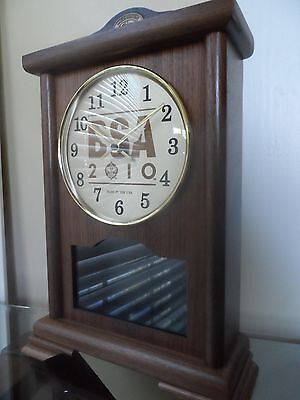 W.R.Case & Sons Boy Scouts 100th. Anniversary Walnut Clock with Display Window