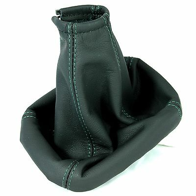 REAL BLACK ITALIAN LEATHER GEAR GAITER FORD MONDEO MK3 2003-06 NEW