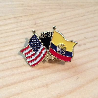 New USA Ecuador Flag Pin AFS Pinback Pin Lapel Pin Button Metal Enamel