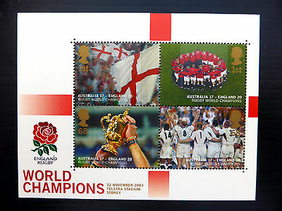 GB 2003 Rugby World Cup M/Sheet SGMS2416 Cat £14 NEW SALE PRICE FP2769