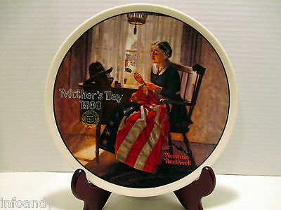Norman Rockwell A Mother's Pride 1980 Mother's Day Limited Edition Plate #04123E