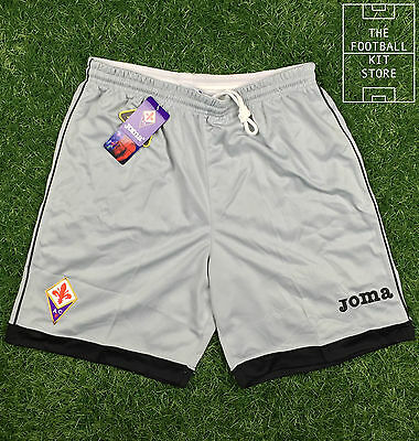 Fiorentina Goalkeeper Shorts - Official Home GK Shorts Grey - Mens - All Sizes