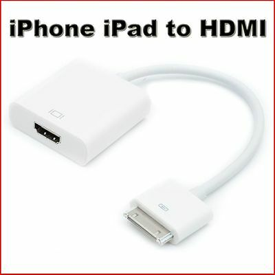 1080P Dock Connector to HDMI TV Adapter Cable Lead For iPhone 4s & iPad 2 3 new