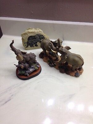 Elephant Figurines Lot