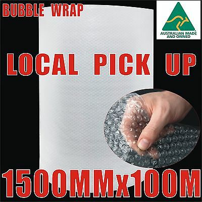 1500mm x 100M Bubble Wrap Roll 10mm Bubbles Aus-Made P10 PickUp Only