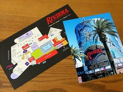 RIVIERA CASINO Vintage Las Vegas 8X10 Photo + FLOOR DIRECTY MAP Closing May 2015