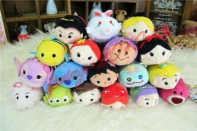 "New 3.5"" Tsum Tsum Mini Plush Toy Alice Little Mermaid Toy Story Kids Xmas Gift"