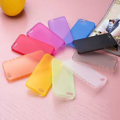 2x 0.3mm Ultra Thin Slim Matte Hard Back Case Cover For iPhone 4S 5S 6 6S Plus