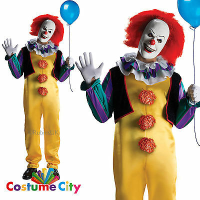 Adult Mens Official IT Pennywise the Clown Fancy Dress Halloween Costume