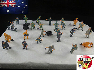 25 Ho Scale Model Train Figures Workman 25 Little People Workers Locomotive 1:87