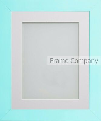 Frame Company Candy Range Aqua Blue Picture Photo Frames with Choice of Mounts