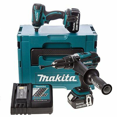 Makita 18v Twin Pack - Combi Drill Impact Driver With Case