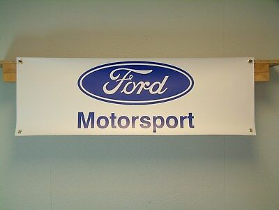 Ford Motorsport 1970s retro look pvc banner for classic car workshop  garage