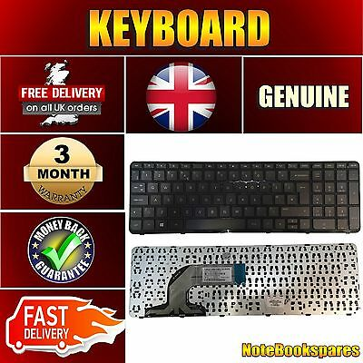 New Hp Pavilion 15-G094Sa Notebook Laptop Keyboard Black Uk Layout