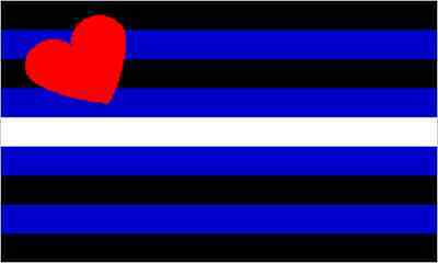 Gay Pride Leather Flag 5' x 3'
