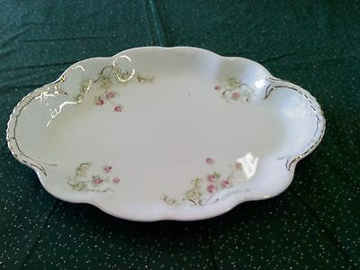 """Homer Laughlin, """"American Beauty"""" large, oval, china platter, vintage"""