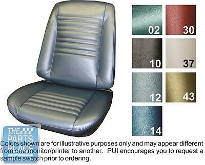 1967 Chevelle Bright Blue Front Buckets Seat Covers And 2 Door Sedan Rear - PUI