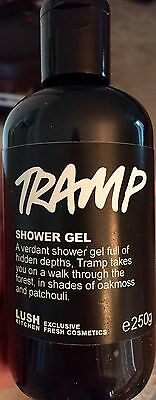 LUSH UK KITCHEN TRAMP SHOWER GEL 250g NEW/FRESH Patchouli&Herb~Unisex Scent