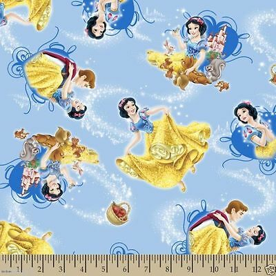 Disney Snow White and Friends Toss 100% cotton fabric by the yard