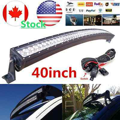 240W 40 inch LED Light Bar Combo Curved Work Offroad Truck Boat 42 cree 20/30/50