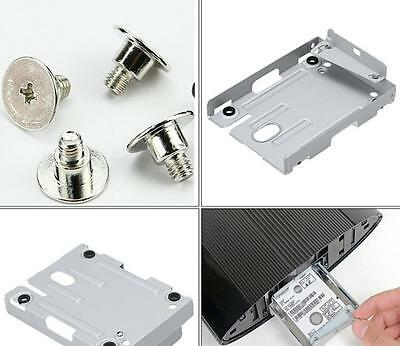 PS3 Super Slim Hard Disk Drive HDD Mounting Bracket Caddy For Sony + Screws BUAU