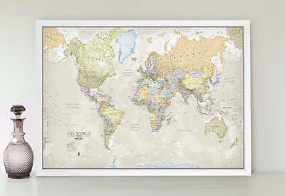 Classic World Map - A1 Size
